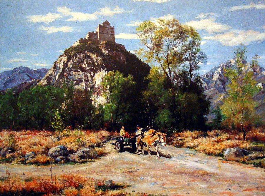 石成峰油画风景作品 - 大众艺术网
